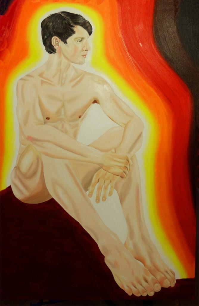 Arte contemporáneo Valencia Karlo Grados España artista galería óleo desnudo hombre sexy David Moore Stuttgart Ballett