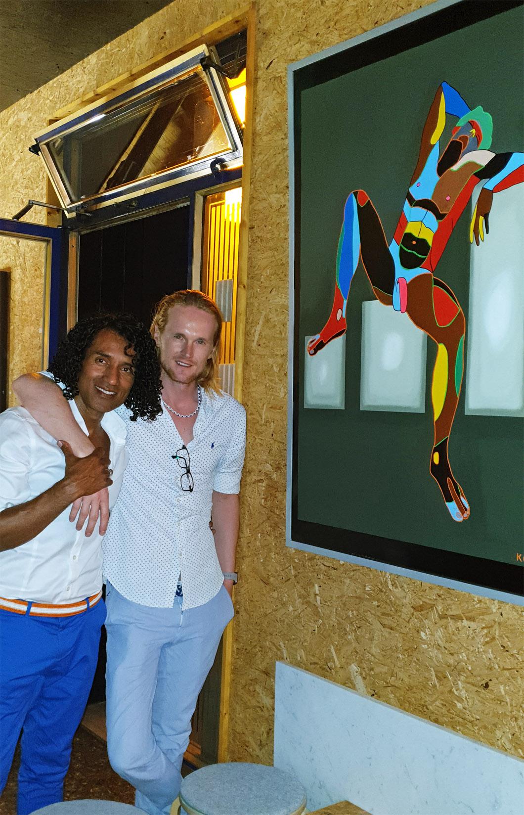 Arte contemporáneo Valencia Karlo Grados España artista galería óleo desnudo hombre sexy exposiciones Fiesta