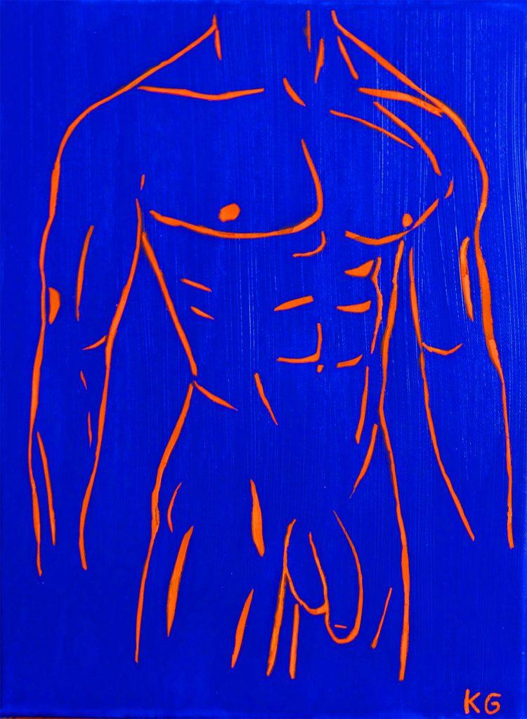 Arte contemporáneo Valencia Karlo Grados España artista galería óleo desnudo hombre sexy10
