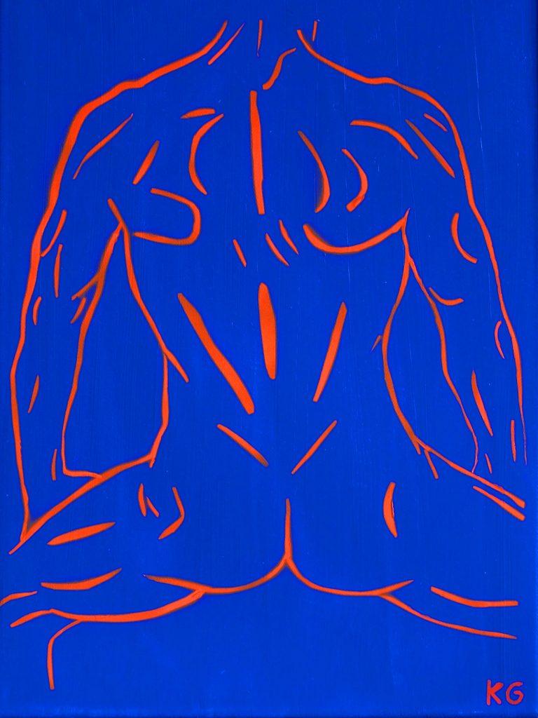 Arte contemporáneo Valencia Karlo Grados España artista galería óleo desnudo hombre sexy13