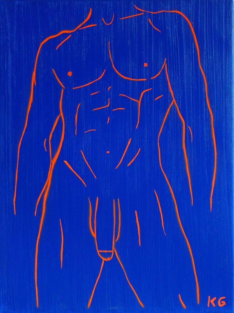 Arte contemporáneo Valencia Karlo Grados España artista galería óleo desnudo hombre sexy16