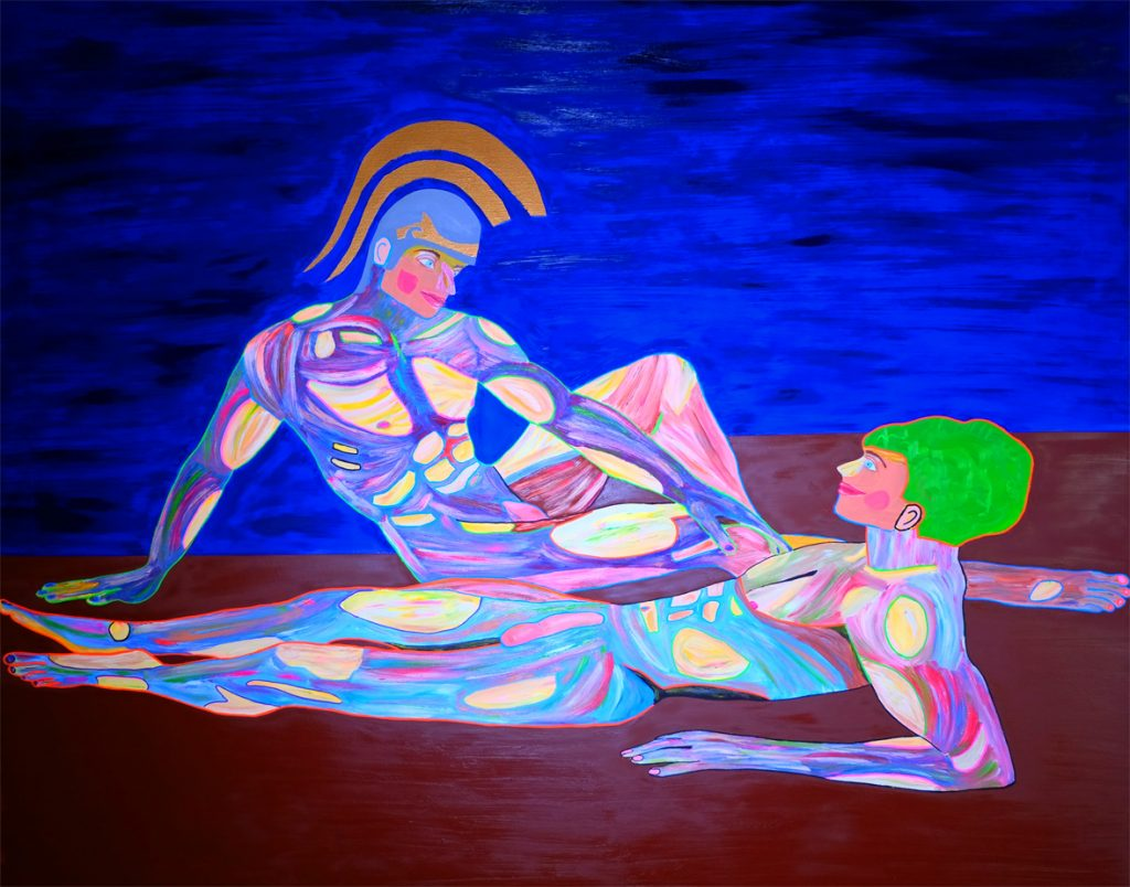 Arte contemporáneo Valencia Karlo Grados España Aquiles y patroclo artista galería óleo desnudo hombre sexy19