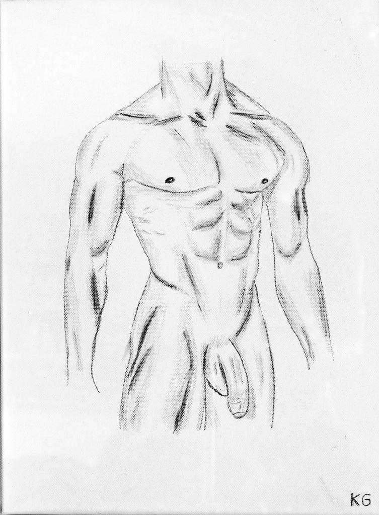 Arte contemporáneo Valencia Karlo Grados España artista galería óleo desnudo hombre sexy21