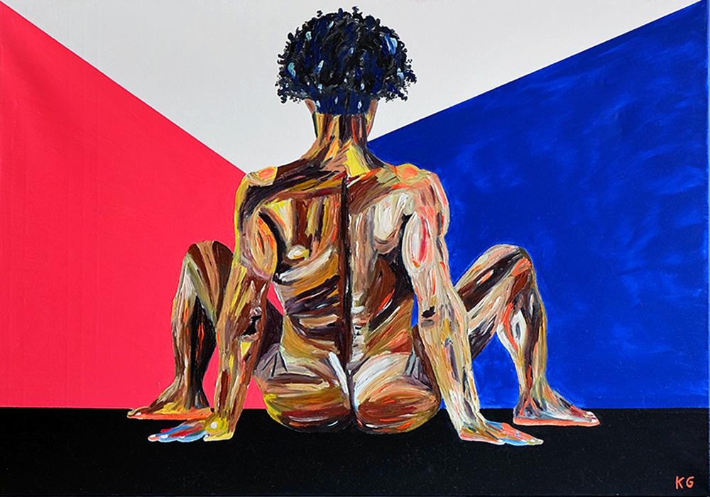 Arte contemporáneo Valencia Karlo Grados España artista galería óleo desnudo hombre sexy3