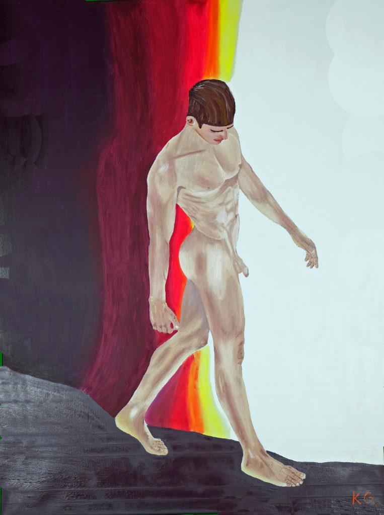 Arte contemporáneo Valencia Karlo Grados España artista galería óleo desnudo hombre sexy5